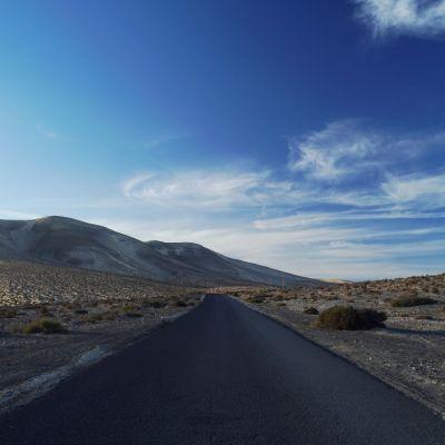 Road near Playa Barca, Fuerteventura