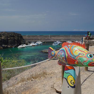 A Fish Sculpture at El Cotillo, Fuerteventura