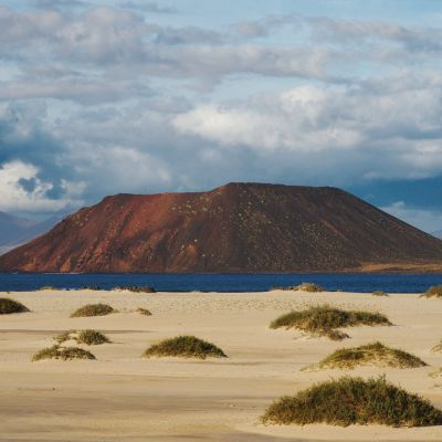 Isla de Lobos as seen from the Corralejo Dunes