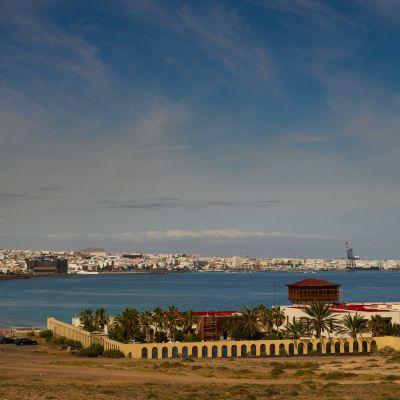 The old Parador and Puerto del Rosario