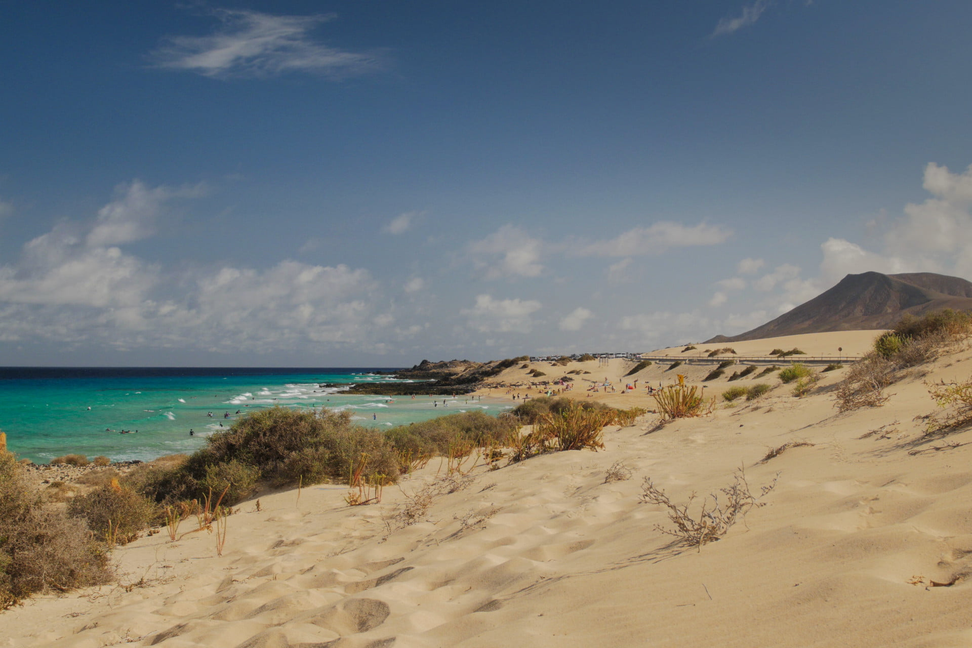 Beach in the Parque Natural de Corralejo