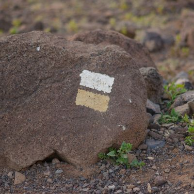 Fuerteventura's Hiking Trails are well marked and colour-coded.