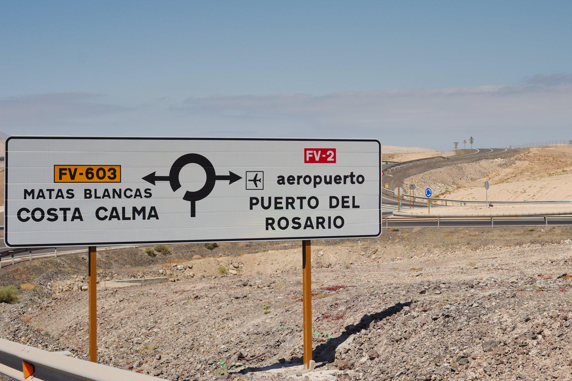 Roadsign near Costa Calma