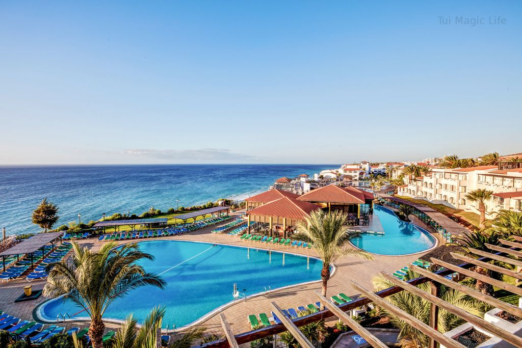 The swimming pool and terraces of Tui Magic Life Hotel in Jandia