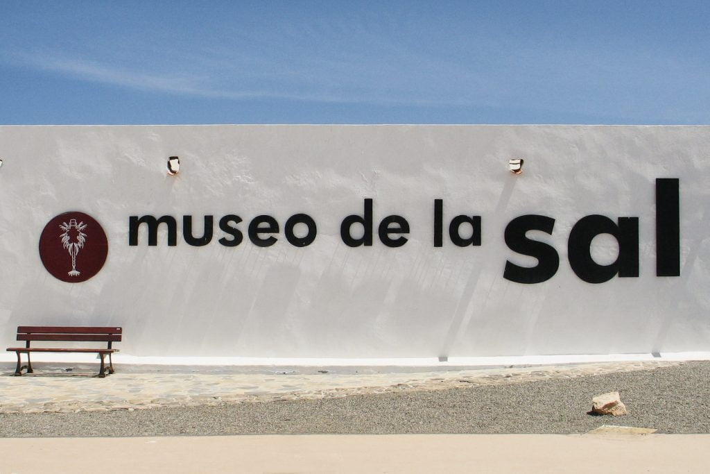 Museo de la Sal sign