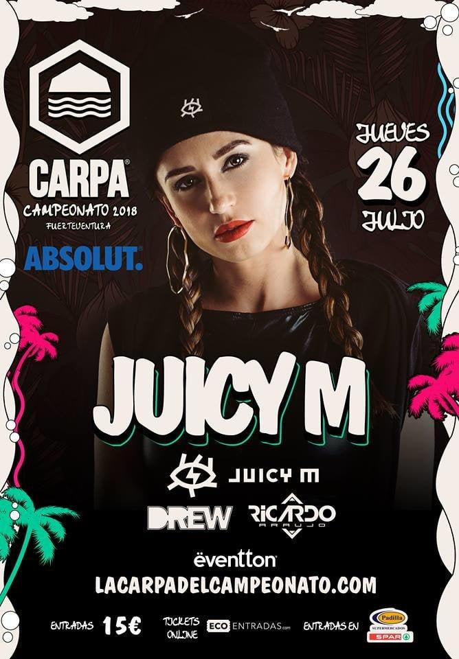 Juicy M plays the Carpa del Campeonato, Playa Barca, Fuerteventura