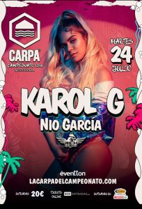 Karol G @ La Carpa del Campeonato @ La Carpa del Campeonato | Pájara | Spain