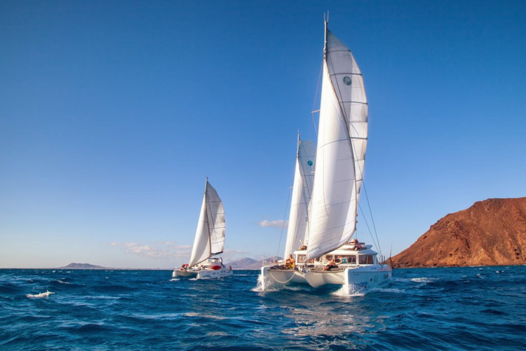 Deluxe Catamaran Sailing Trip around Isla de Lobos
